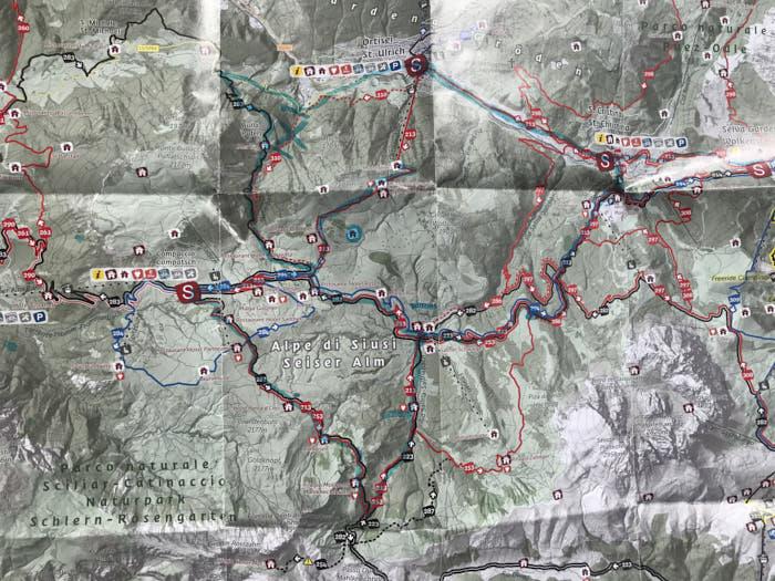Alpe di Siusi mappa e-bike passione passaporto