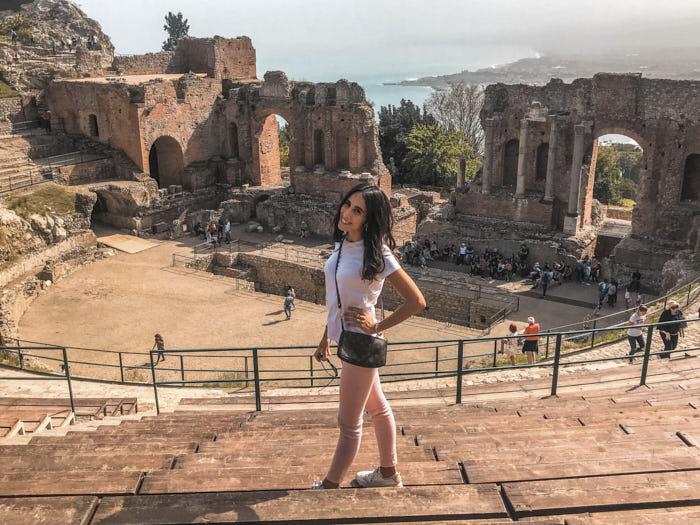 Taormina Teatro Greco Italia Sicilia Passione Passaporto