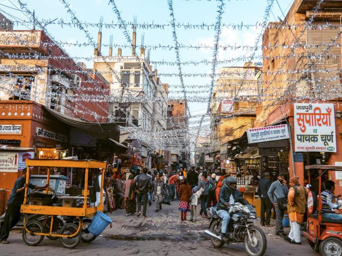 Jaipur Bazar Rajastan India Passione passaporto
