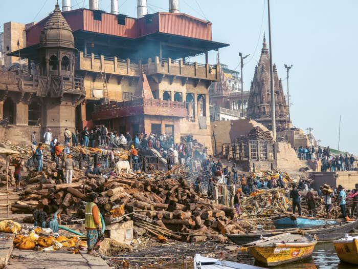 Manikarnika Ghat Varanasi Uttar Pradesh India Passione Passaporto