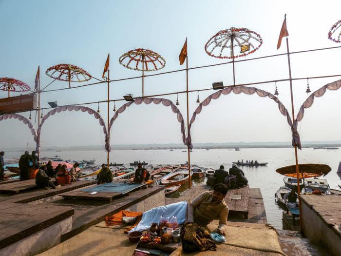 Varanasi Gange Uttar Pradesh India Passione Passaporto