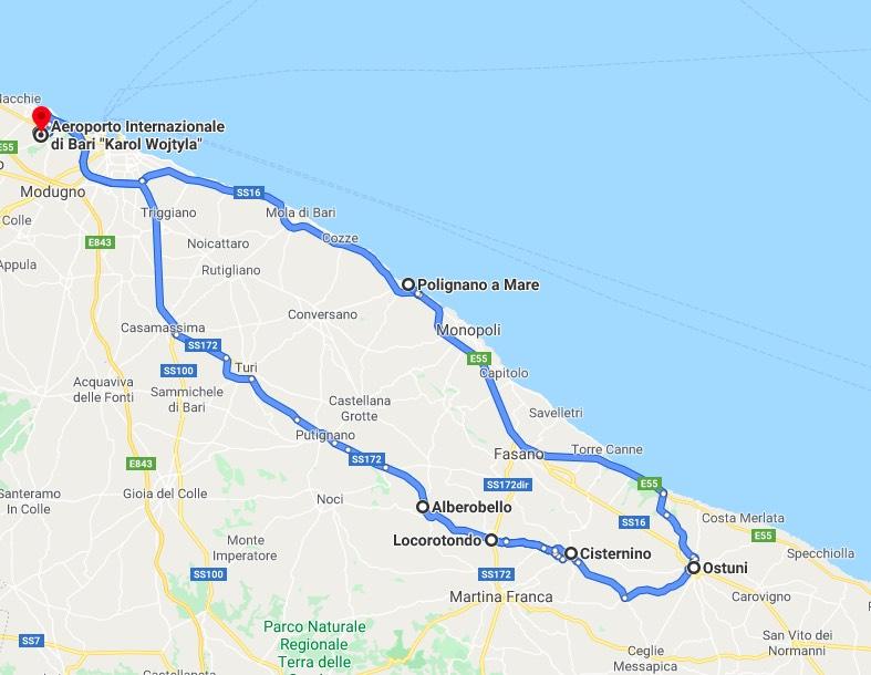 Itinerario Puglia Valle d'Itria Italia Passione Passaporto
