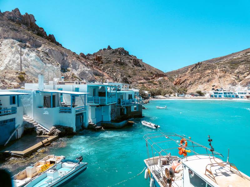 Firopotamos Milos Syrmata villaggio dei pescatori grecia Passione Passaporto