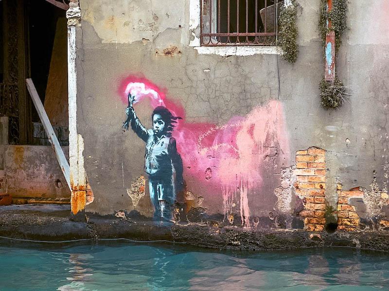 Opera di Bansky Venezia dove è opera bansky venezia Passione Passaporto Italia Cosa vedere a Venezia